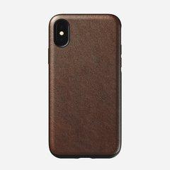 Чехол Nomad Rugged Leather V2 для iPhone XS кожа коричневый