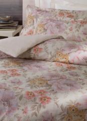 Постельное белье 2 спальное евро Mirabello Astrid розовое