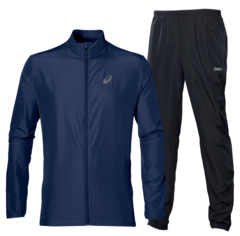 ASICS RUNNING WOVEN мужской костюм для бега темно-синий
