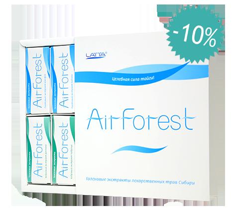 Набор из 8-ми видов экстрактов AirForest (на основе эфирных масел сосны кедровой и пихты)