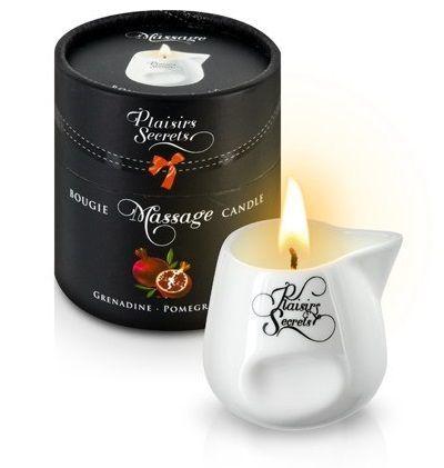 Массажные масла и свечи: Массажная свеча с ароматом граната Bougie de Massage Gourmande Grenadine - 80 мл.