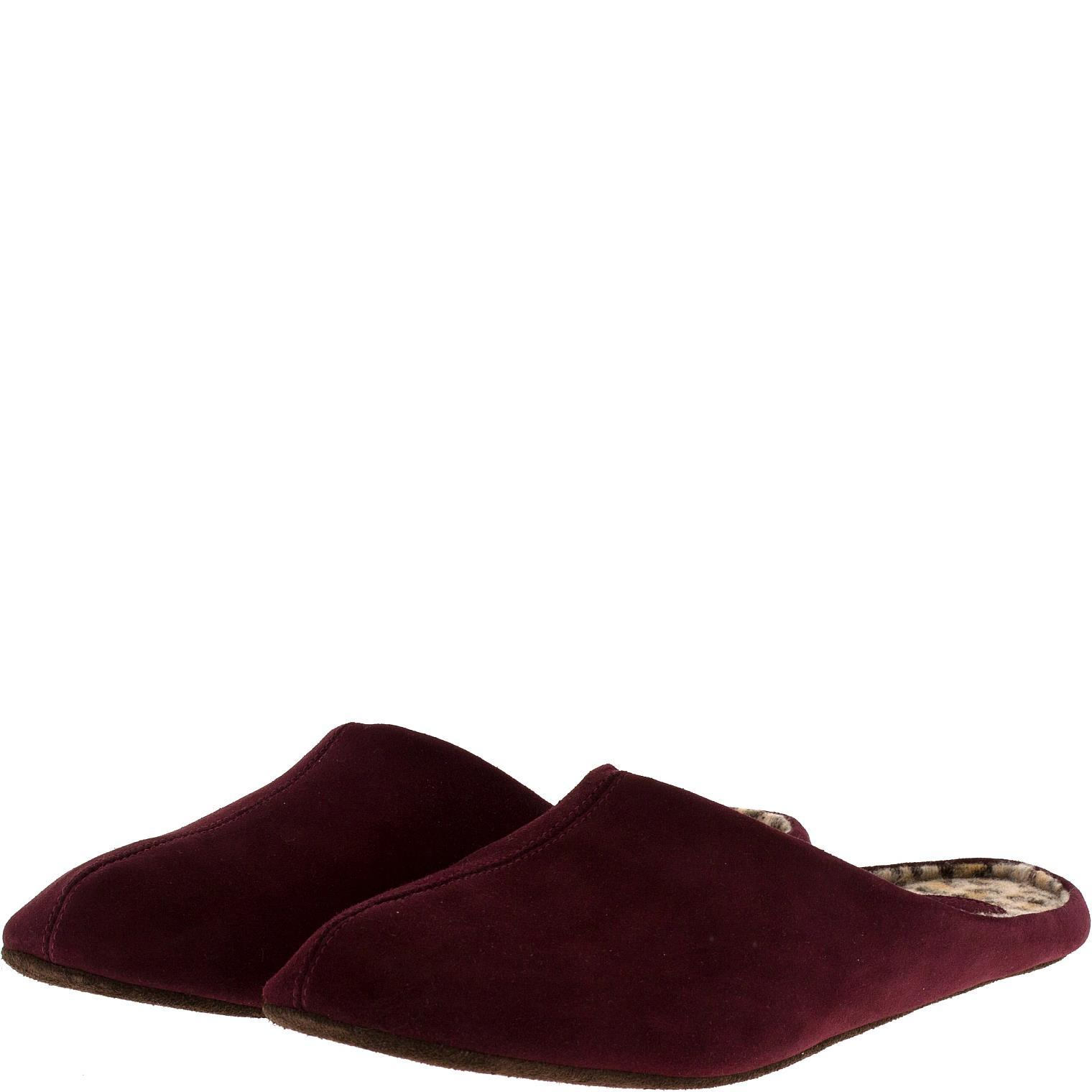 777137 туфли домашние женские бордо больших размеров марки Делфино