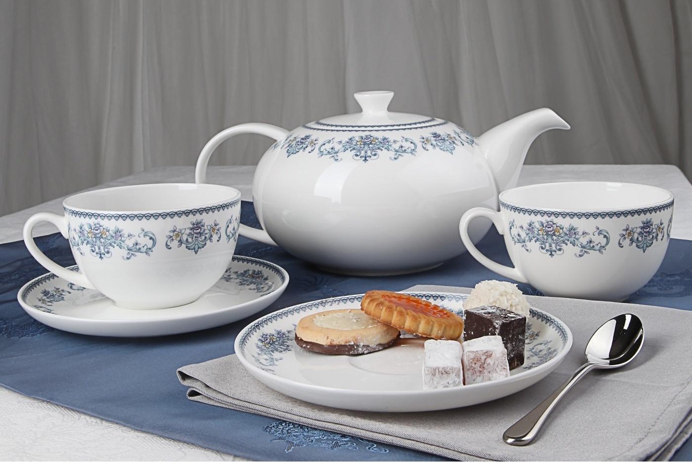 """Чайный сервиз Royal Aurel """"Саксония"""" арт.141, 13 предметов"""