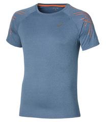 ASICS STRIPE SS TOP мужская спортивная футболка синяя