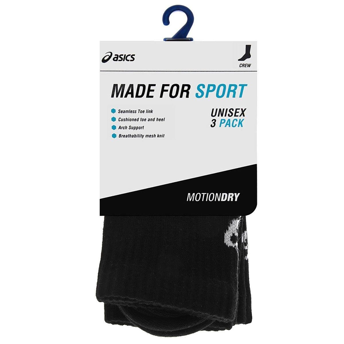 Беговые носки Asics Crew Sock белые (128064 0900-K) унисекс