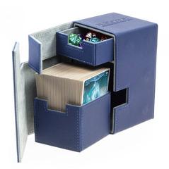 Ultimate Guard - Кожаная синяя коробочка с отделением для кубиков на 100+ карт