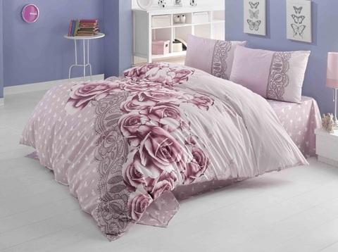 1.5-Спальное постельное белье ранфорс ROSELACE