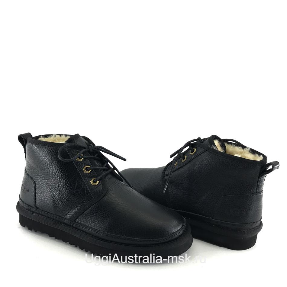 UGG Womens Neumel Leather Black