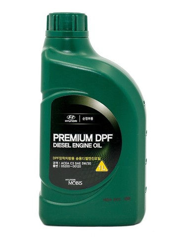 HYUNDAI PREMIUM DPF DIESEL 5W30 C3 Масло моторное синт. (пластик/Корея)