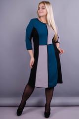 Жюли. Красивое женское платье для дам с пышными формами. Изумруд.