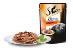 Sheba Pleasure Ломтики в соусе из телятины и языка 85 гр