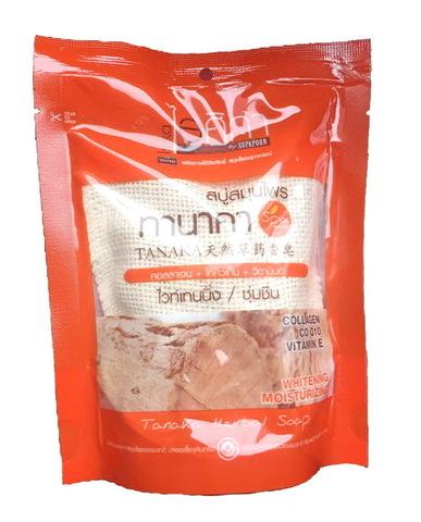 Натуральное тайское мыло - мочалка Supaporn с пудрой Танака, 110 гр