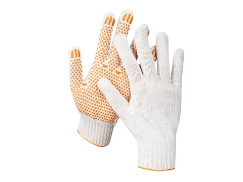 STAYER RIGID, размер L-XL, перчатки трикотажные для тяжелых работ, с ПВХ покрытием (точка), 11404-XL