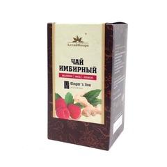 Чай имбирный, Алтай Флора, с малиной, медом и лимоном, фильтр-пакет, 20 шт*1,5 г.