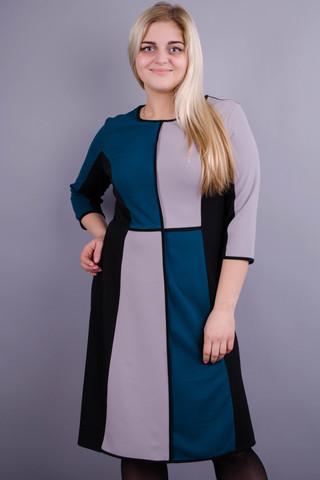 Жюлі. Стильна сукня плюс сайз для жінок. Смарагд.