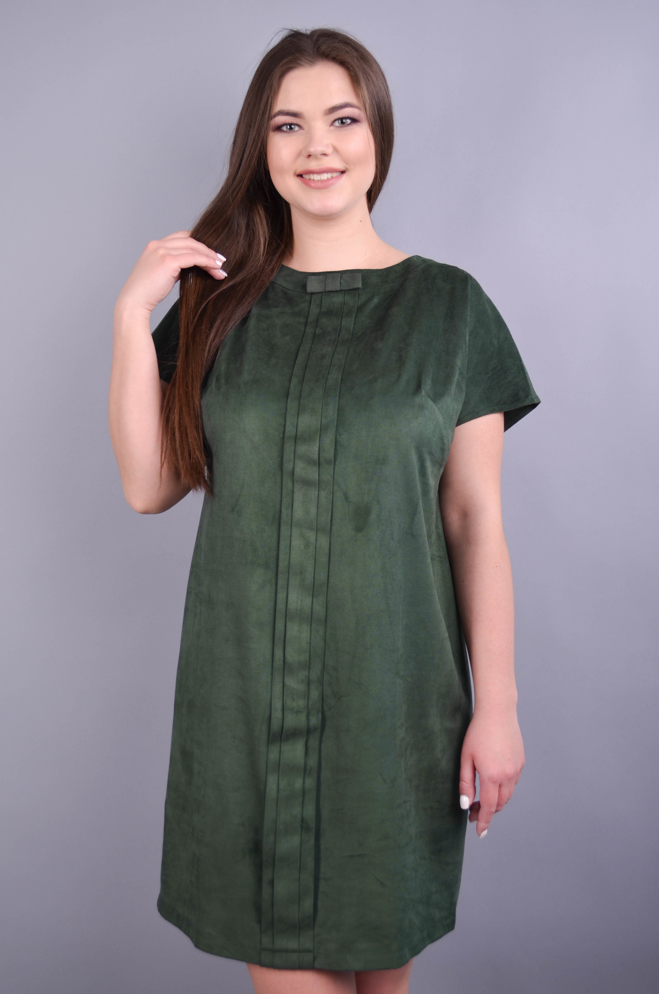 Варвара. Вишукана сукня для жінок плюс сайз. Смарагд.