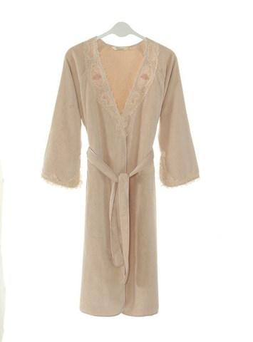 DESTAN - ДЕСТАН пудра махровый женский халат Soft Cotton (Турция)