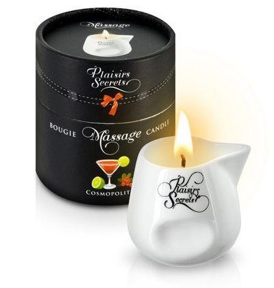 Массажные масла и свечи: Массажная свеча с ароматом коктейля Космополитан Bougie de Massage Cosmopolitan - 80 мл.