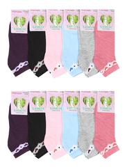B304 носки женские, цветные 37-42 (12шт.)