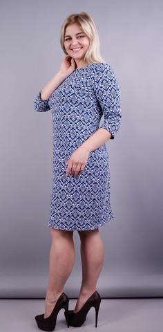 Арина отто принт. Изысканное платье плюс сайз. Орнамент.