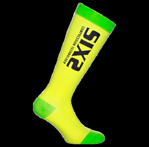 Sixs, Компрессионные носки Recover Socks, желто-зеленый