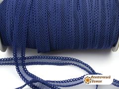 Резинка ажурная для повязок темно-синяя ширина 16 мм