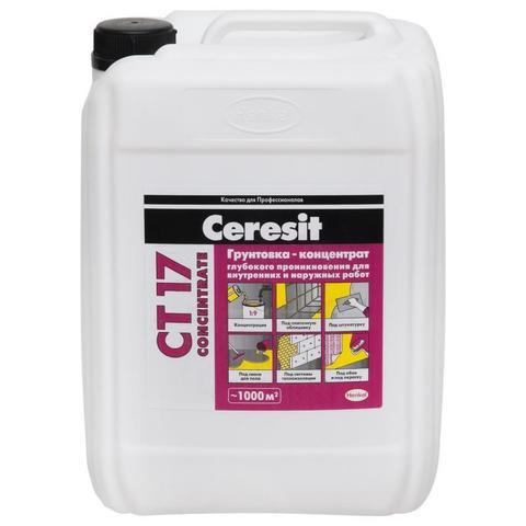 Ceresit CT 17 CONCENTRATE/Церезит ЦТ 17 КОНЦЕНТРАТ грунтовка-концентрат глубокого проникновения