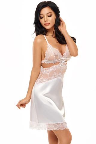 Белая эротическая сорочка с кружевом