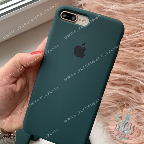 Чехол iPhone 8/7 Plus Silicone Case Full /forest green/