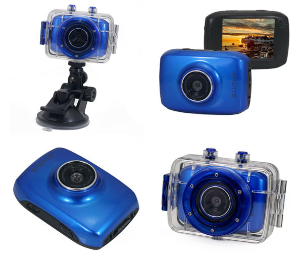 ACTION CAMCORDER HD blue