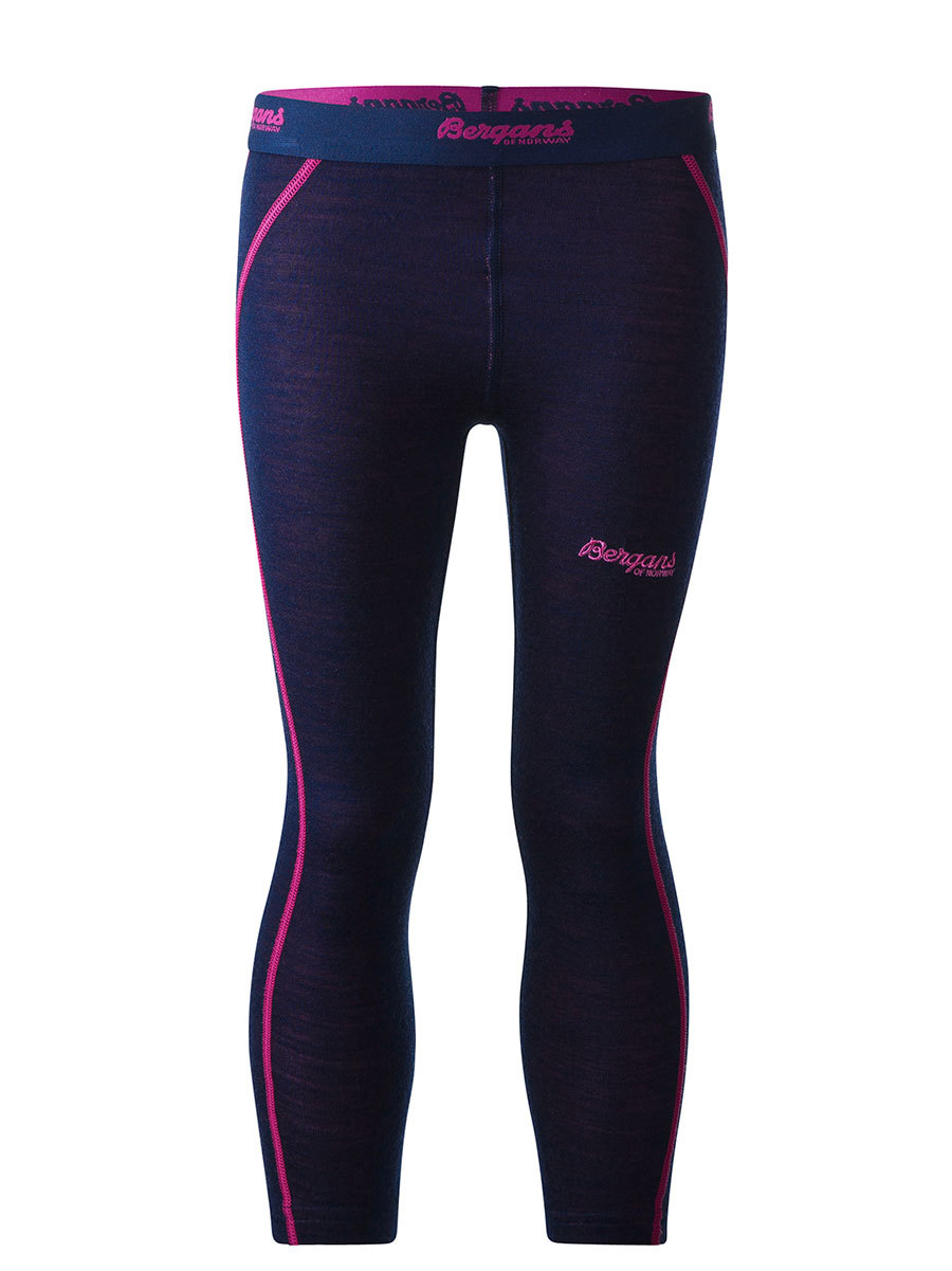Bergans термобелье 1875 брюки Akeleie Kids Tights Navy/Hot Pink