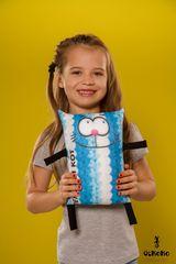 Подушка-игрушка антистресс «Теплый кот», голубой 2