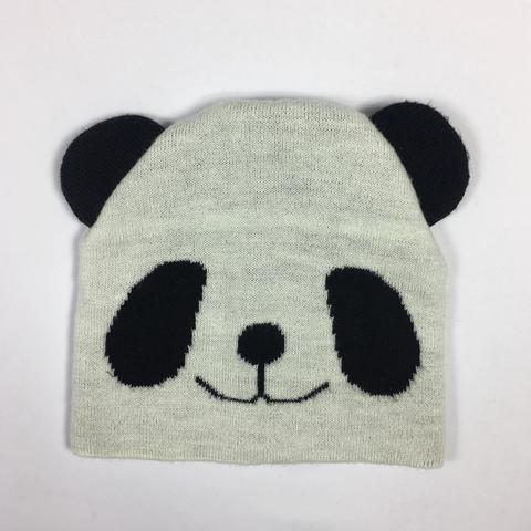 шапочка с пандой на 3\6 месяцев