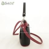 Сумка Саломея 266 гладкий черный + рубин