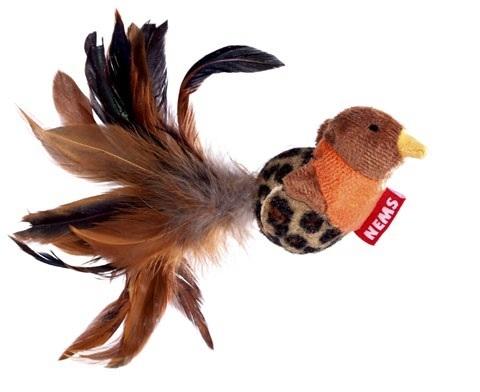 NEMS игрушка птичка с перьями для кошек