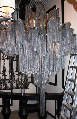 Terazani stream  chandelier  by B. Baylar for Terzani ( silver )