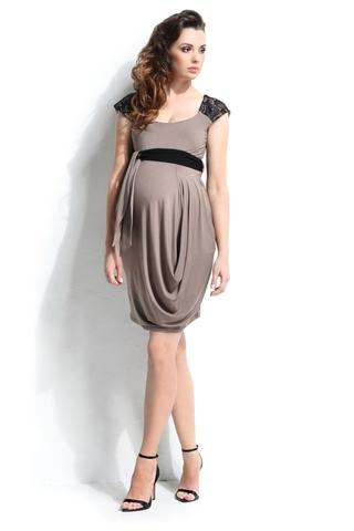 Платье для беременных 05391 коричневый