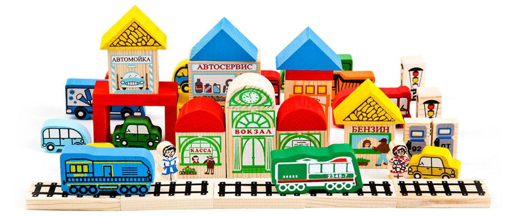 Томик конструктор Транспорт 45 деталей игрушки