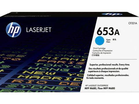 Картридж голубой HP 653A (CF321A) для принтеров и МФУ HP Color LaserJet Enterprise M680 (ресурс - 16500 страниц)
