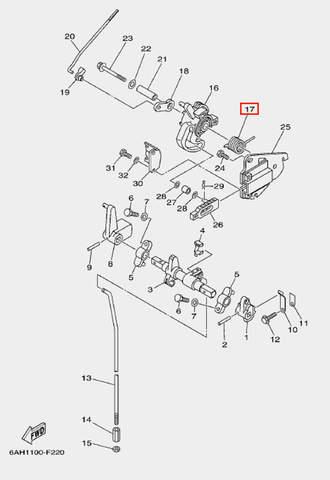 Пружина ролика привода для лодочного мотора F20 Sea-PRO (18-17)