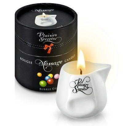 Массажные масла и свечи: Массажная свеча с ароматом бубль-гума Bougie de Massage Gourmande Bubble Gum - 80 мл.