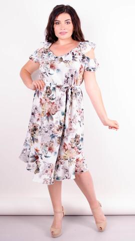 Веста. Красива сукня плюс сайз. Квіти.