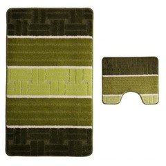 Набор ковриков для ванной BANYOLIN SILVER 60х100 см ворс, зеленый