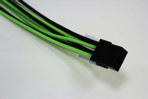 Удлинитель Power Cable 30 cm Black&Green, 8Pin CPU M/F