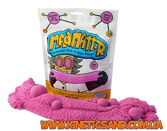 Mad Mattr розовый нано кинетический песок