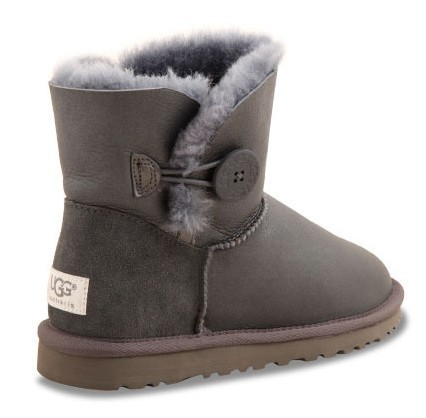 UGG Bailey Button Mini Metallic Grey