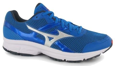 Мужские кроссовки для бега Mizuno Spark K1GA1603 04 синие | Интернет-магазин Five-sport.ru