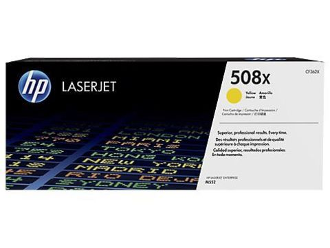 Картридж желтый 508X HP Color LaserJet Enterprise M552dn, M553dn, M553n, M553x Cyan. Ресурс 9К (CF362X)