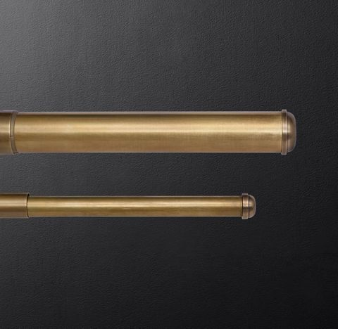 Bayonne Solid Brass Extension Rod - Burnished Brass