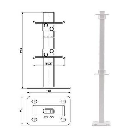 Кронштейн для радиатора напольный ТВЕК.10.333 (для радиаторов COPA тип 22)